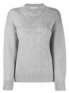 Philosophy Di Lorenzo Serafini logo print sweater - Grey