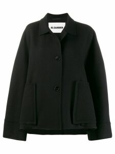 Jil Sander single-breasted coat - Black