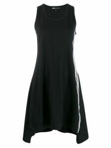 Y-3 side stripe midi dress - Black