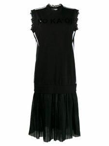 No Ka' Oi layered jersey dress - Black
