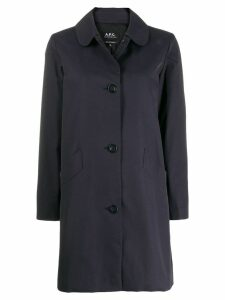 A.P.C. button-up coat - Blue