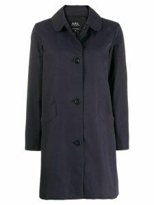 A.P.C. button-up coat - Blue