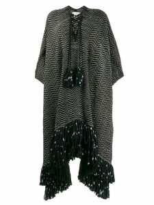 Ulla Johnson fringed poncho coat - Black