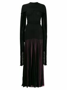 JW Anderson belted scarf maxi dress - Black