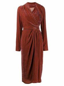 Rick Owens velvet wrap dress - Pink