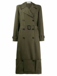 JW Anderson folded hem trench coat - Green