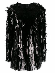Norma Kamali all-over sequin fringe top - Black