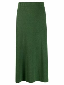 Yves Salomon knitted midi skirt - Green