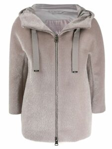 Herno hooded zip-up jacket - Neutrals