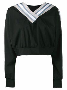 No Ka' Oi cropped sweatshirt - Black