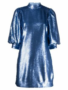 Ganni sequin mini dress - Blue