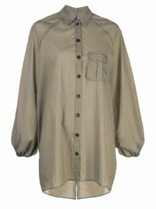 Ganni open back shirt - Green