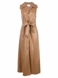 Nanushka sleeveless shirt dress - Brown