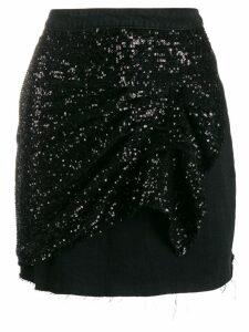 Pinko A-line mini skirt - Black
