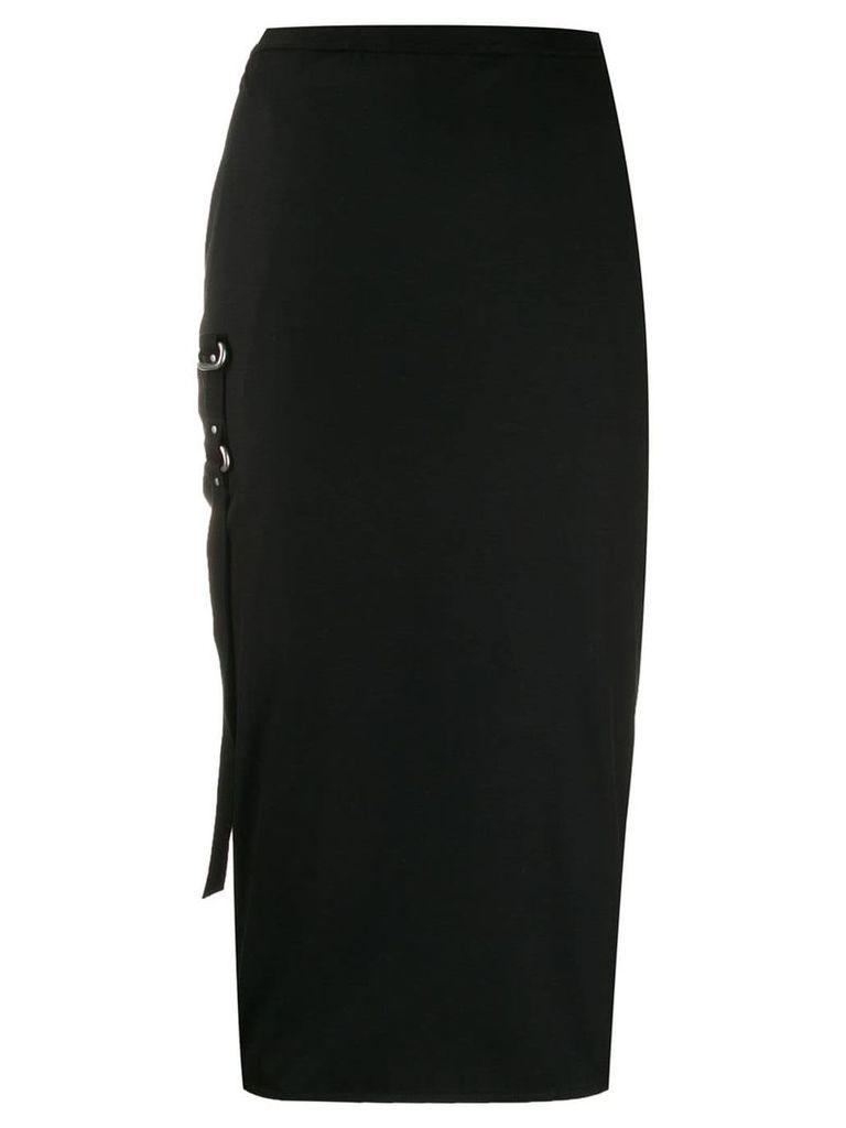 Rick Owens strap detail pencil skirt - Black