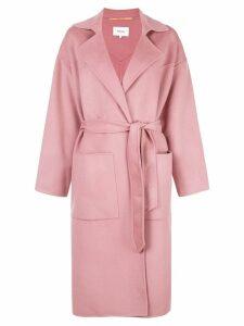 Nanushka belted trench coat - Pink
