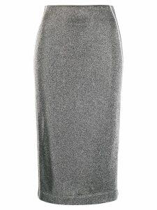 No Ka' Oi glitter detail skirt - Silver