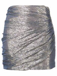 Dsquared2 gathered style mini skirt - Metallic