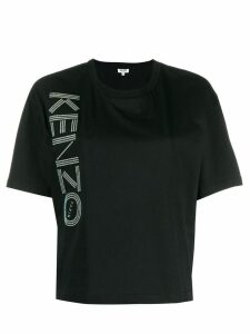 Kenzo glitter logo print T-shirt - Black