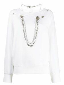 Diesel chain sweatshirt - White