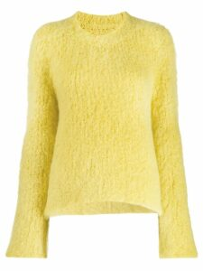 Maison Margiela slouchy round neck sweater - Yellow