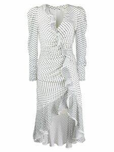 Jonathan Simkhai asymmetric ruched dress - White