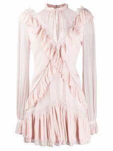 Jonathan Simkhai ruched-trim short dress - Neutrals