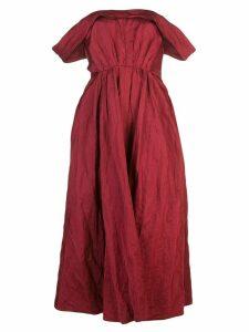 Brock Collection off-shoulder midi dress - Red