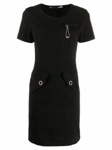 Love Moschino short slim-fit dress - Black