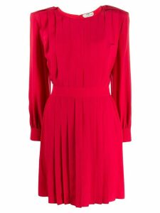 Fendi pleated shift dress - Red
