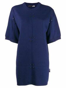 Love Moschino short sweater dress - Blue