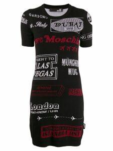 Love Moschino knitted cities dress - Black