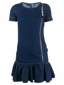 Love Moschino short-sleeved denim dress - Blue