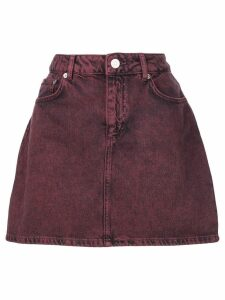 Ganni short denim skirt - Red