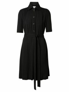 Burberry Short-sleeve Gathered Jersey Dress - Black