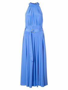 Diane von Furstenberg crepe de chine halterneck dress - Blue
