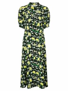 Diane von Furstenberg Lily lemon print dress - Black