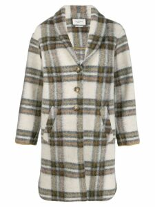 Isabel Marant Étoile oversized plaid single-breasted coat - Neutrals