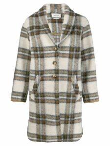 Isabel Marant Étoile oversized plaid single-breasted coat - Neutrals