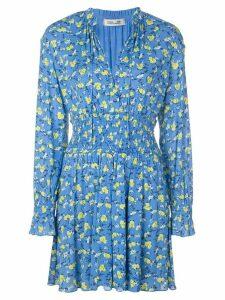 Diane von Furstenberg Henrietta floral print playsuit - Blue