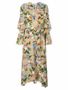Diane von Furstenberg Alice floral print dress - Gold