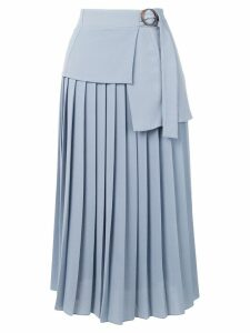 Victoria Victoria Beckham side tie pleated skirt - Blue