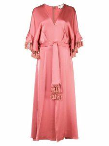 Sachin & Babi waist-tied midi dress - Pink