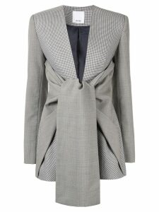 Acler Gleston tie front blazer - Grey