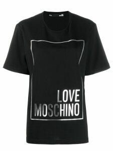 Love Moschino logo print oversized T-shirt - Black
