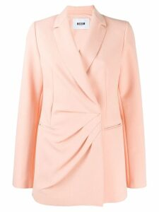 MSGM pleated blazer - Pink