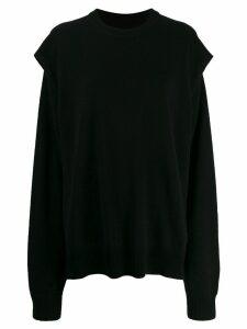 Maison Margiela sleeve cutout sweatshirt - Black