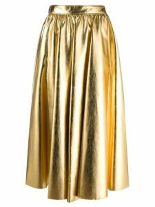 MSGM pleated skirt - Gold