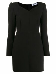 MSGM fitted sweetheart dress - Black