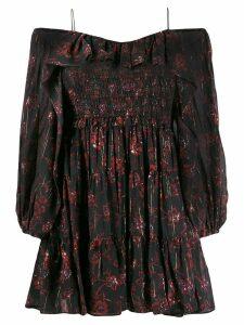 Ulla Johnson off shoulder floral dress - Black
